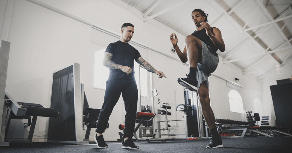 Fitness with trainers help